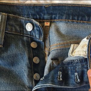 Levi's cropped wedgie jeans